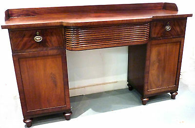Regency period Mahogany Pedestal Sideboard, English circa 1820.