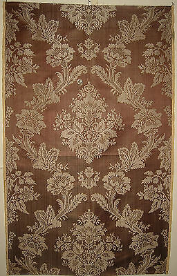 Antique Beautiful  18th C. French Silk Woven Damask (8760)