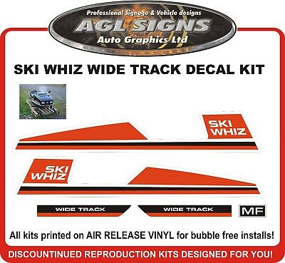 1973 1974  SKI WHIZ  Wide Track  reproduction Decal kit  444