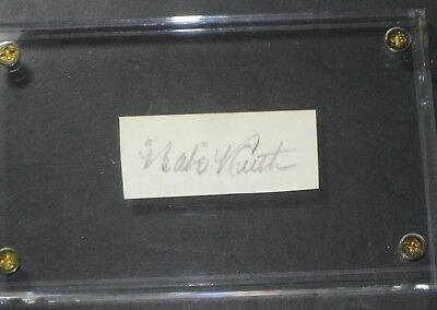 BABE RUTH Signed Cut New York Yankees READ LISTING
