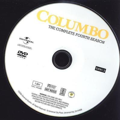 Tv Replacement Dvd: Columbo, Season 4 (Fourth Four) Disc 2 (Two Second)