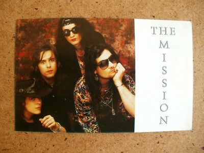 The Mission Promotional Card 1980's Vintage     FREE POSTAGE