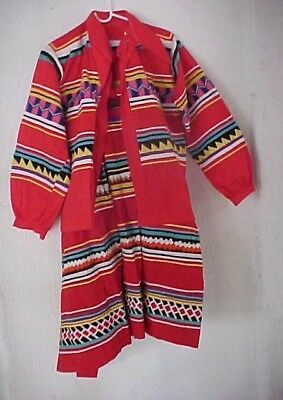 Vintage Seminole Indian Cotton Patchwork Set- Shirt/jacket Skirt-Florida Estate