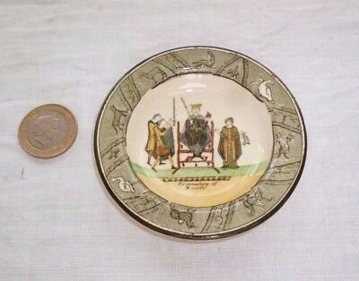 Royal Doulton Miniature Plate Bayeux Tapestry Coronation Of Harold D2873