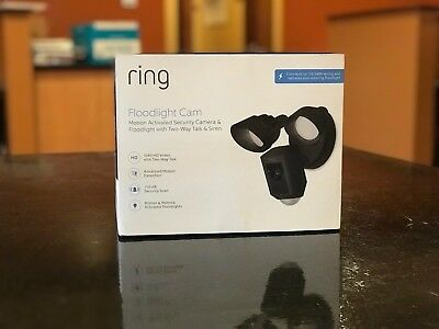 Ring Floodlight Outdoor Wireless Camera - Black **NO RESERVE**