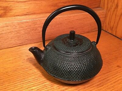 Vintage Japanese Cast Iron Teapot Kettle with Screen