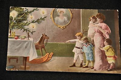 Wwi Imperial German Army Postcard 'pre-War Christmas 1909' Written & Mailed Vg+