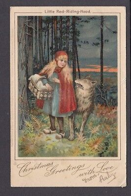 Children - Fairy Tale ''Little Red Riding Hood'' 1905 - Pub Tuck Series 1713