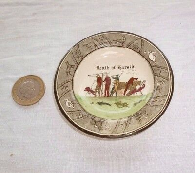 Royal Doulton Miniature Plate Bayeux Tapestry Death Of Harold D2873