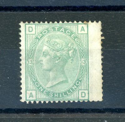 Great Britain Victoria   1s Green  (SG 150)  Plate 13,  Hinged MINT   (O1295)