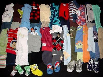 52pcs USED BABY BOY NEWBORN 0-3 3-6 MONTHS FALL WINTER CLOTHES LOT FreeShip