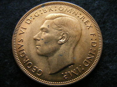 1939 penny, some toning marks otherwise good lustre UNC