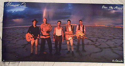 Midnight Oil 1990 Large Promo Poster Blue Sky MIning Columbia Records