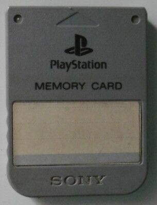 Carte Memoire Sony Playstation1 / PS1 Officielle