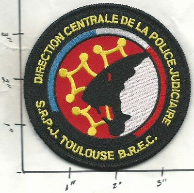 FRANCE NATIONALE POLICE - S.R.P.J. - TOULOUSE - B.R.E.C. Patch