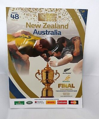 RUGBY WORLD CUP FINAL 2015  PROGRAMME New Zealand All Blacks v Australia  MINT