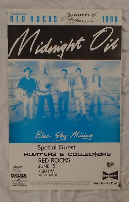 Midnight Oil 1990 Tour Poster Blue Sky MIning Red Rocks Colorado