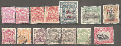 NORTH BORNEO LITTLE LOT MLH* GUMMED AS SURCHARGED 2Cts/25,USED RIGHT CANCELLED..