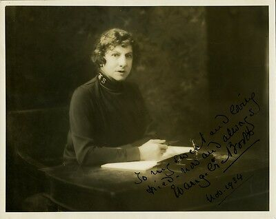 Salvation Army General EVANGELINE BOOTH Signed Photo - 1934