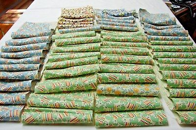 1920s early 30s Vintage LOT 54 CUTE COTTON PRINT QUILT FABRIC SCRAPS  #6