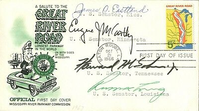 GREAT RIVER ROAD Cover Signed By Four Senators