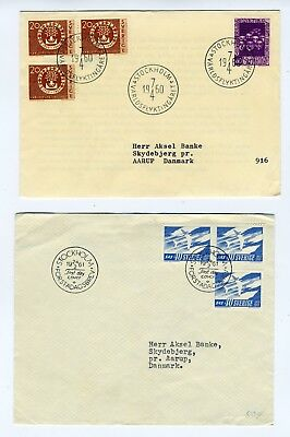 Sweden 1960-61 pair of Covers