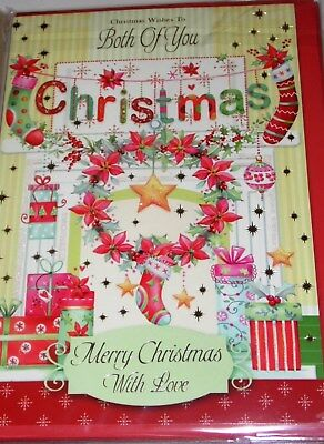 "TO BOTH OF YOU LARGER CHRISTMAS CARDS X 6,JUST 49p,CODE 75,WRAPPED 7x9"" (G95"