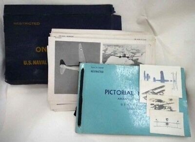LOT WWII RESTRICTED NAVAL SHIPS/AIRCRAFT books+photos
