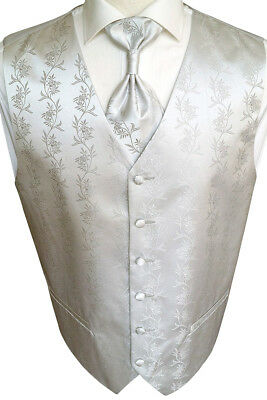 Wedding Waistcoat with Plastron, Handkerchief and