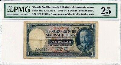 Government Of  Straits Settlements  1 1934  PMG  25