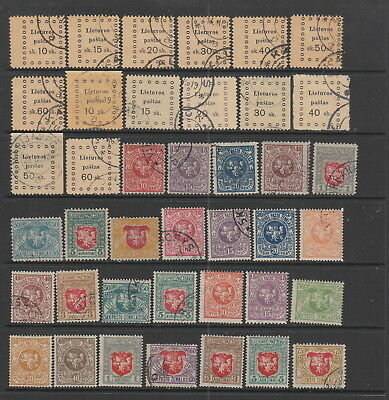 Lithuania 1919 collection , 40 stamps