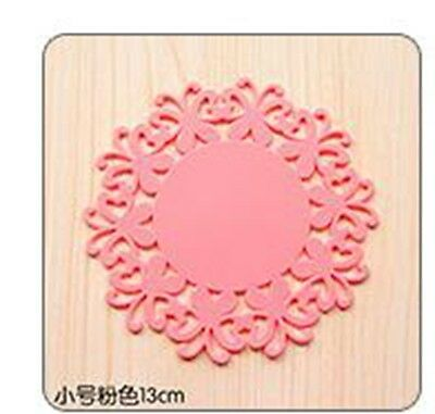 small Silicone Heat Insulation Coasters Mat Resistant Pad Non-Slip Cup Place####