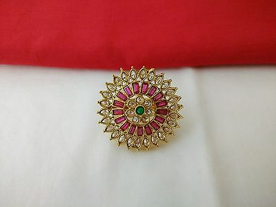 Indian Fashion Jewelry Ring Bollywood Ethnic Gold Plated New Traditional Ring