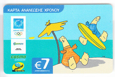 Europe  Telecarte / Phonecard .. Grece 7€ Cosmo Surf Bd Olympique Olympic 08/06
