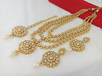 Indian Jewelry Antique Long Necklace Bollywood Ethnic Gold Plated Traditional
