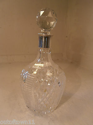 Silver topped Cut Glass  Decanter    ref246