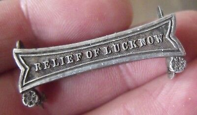 A Relief Of Lucknow Silver Clasp For A Full Size Indian Mutiny Medal.