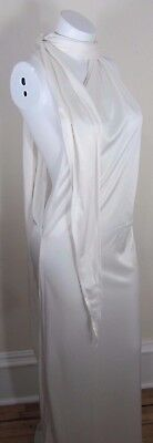 Vintage Pareo Wrap Cover Up Ivory Stretch Knit New in Box Marshall Fields