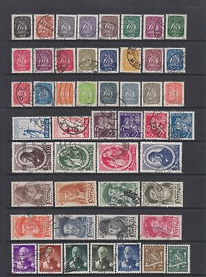 Portugal 1943 - 1953 collection , 116 stamps MH or fine used