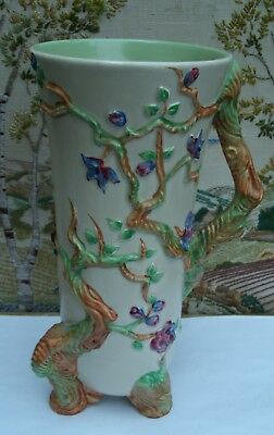 CLARICE CLIFF NEWPORT POTTERY Indian Tree IN RELIEF VASE
