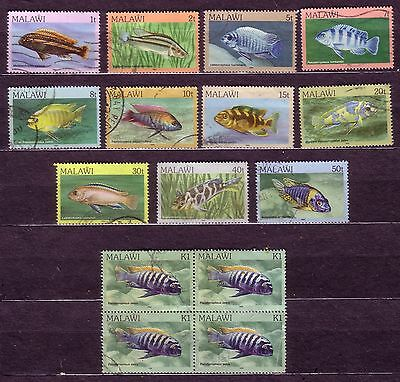 STAMPS: MALAWI. 3. FISH 1984. INC TOP VALUE BLOCK OF 4!! 99p START. NO RESERVE!