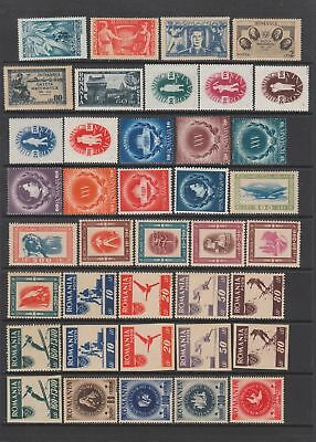 Romania mid period fine MH collection, 85 stamps