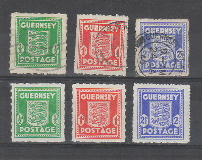 Guernsey 1941 - 1944 MH or fine used , 6 stamps