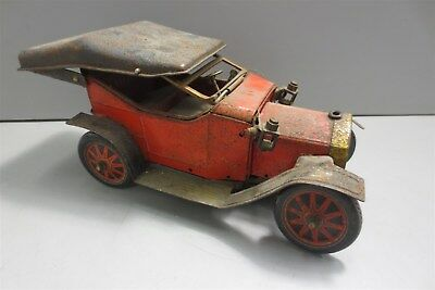 Vintage Tin Litho Early Battery Operated Car
