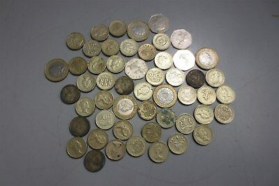 Huge Lot of British Pounds-Money-Coins