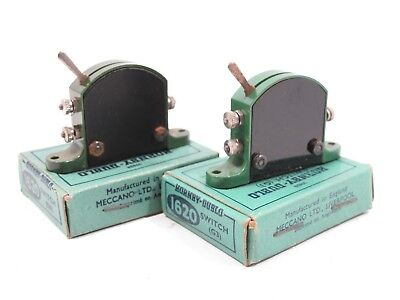Hornby Dublo 2 x G3 Green Lever Switches for Colour Light Signals