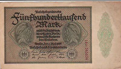 500 000 Mark Very Fine Crispy Banknote From Germany 1923!pick-88