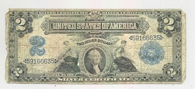 $2 Series 1899 Silver Certificate, average circulated, good looking, no reserve