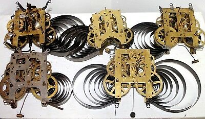 Lot Of Antique Clock Movements Parts/repair. Ansonia, Gilbert Ingraham, Sessions