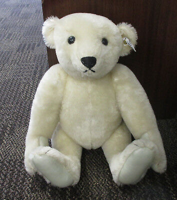 """1985 STEIFF MOHAIR BEAR 0158/41 16"""" JOINTED w/LEATHER PAWS"""